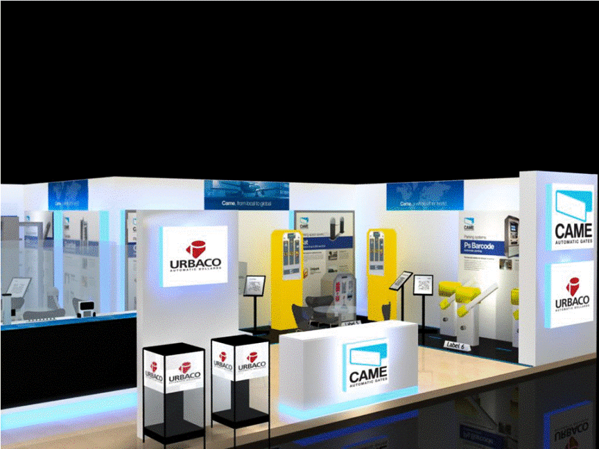 3d exhibition stall 2 side close side view- 3d stall designing services in delhi