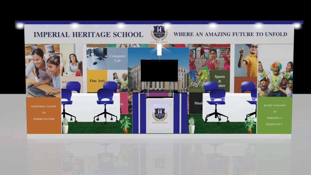 3d exhibition stall front- 3d stall designing services in delhi