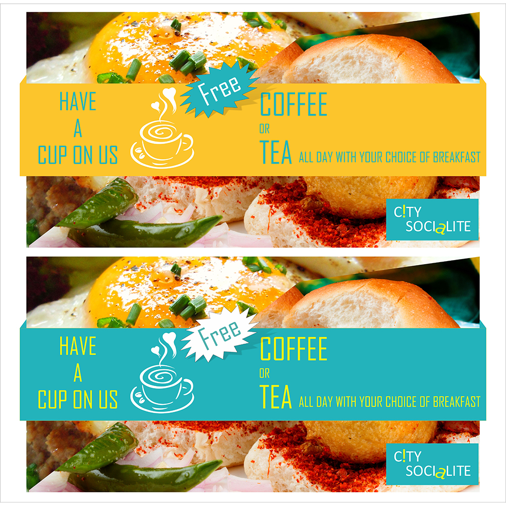 free coffee offer ads design- designing services in delhi