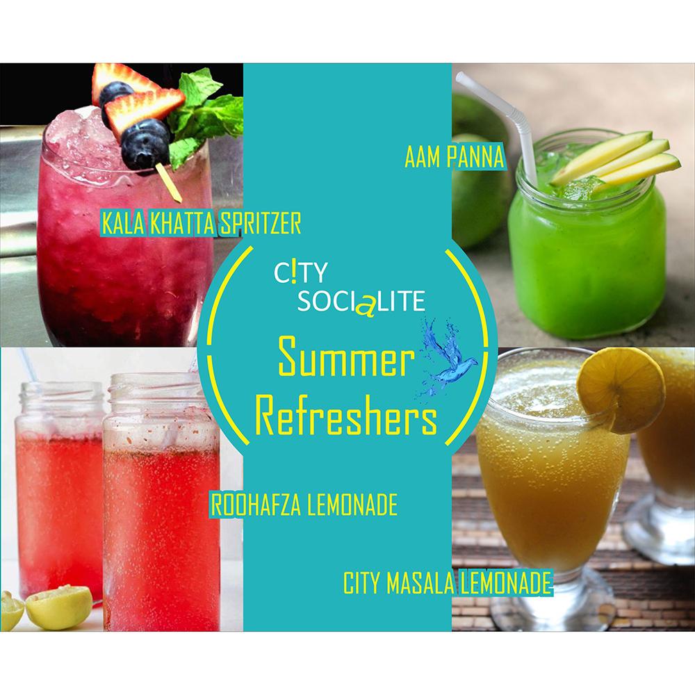 summer refreshers display design- designing services in delhi