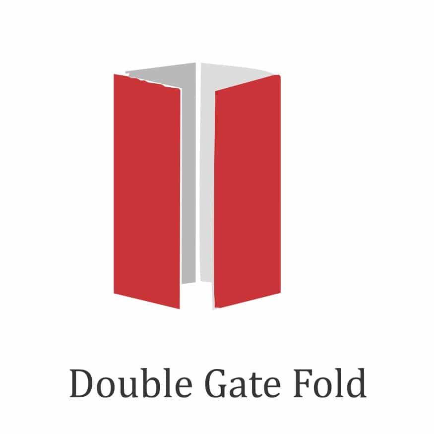 Brochure fold design - double gate fold