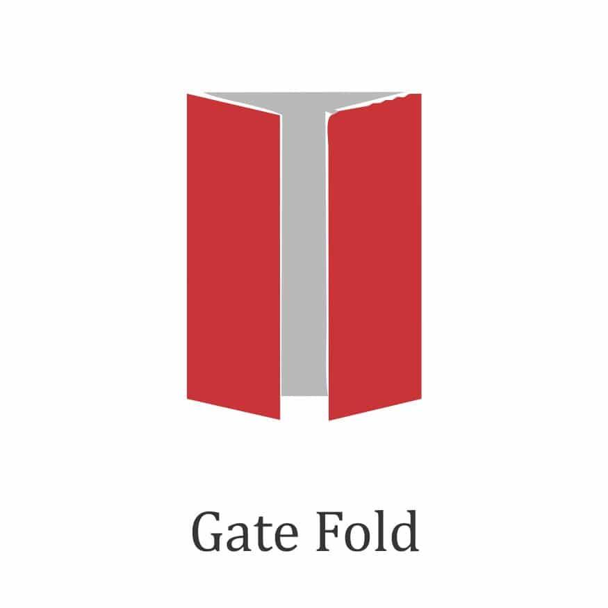 Brochure folds designs- gate fold