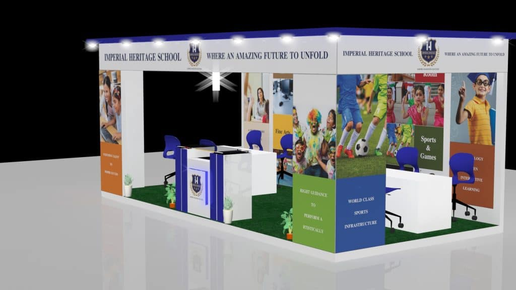 3d exhibition stall left- 3d stall designing services in delhi