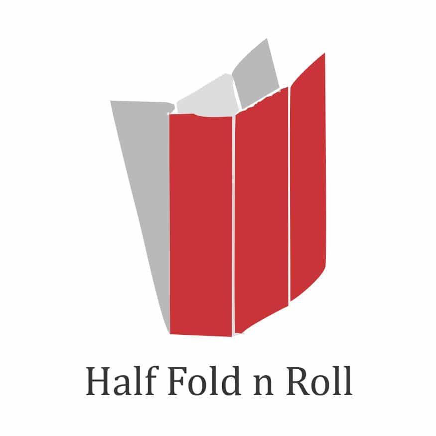 brochure types of folds- half fold n roll