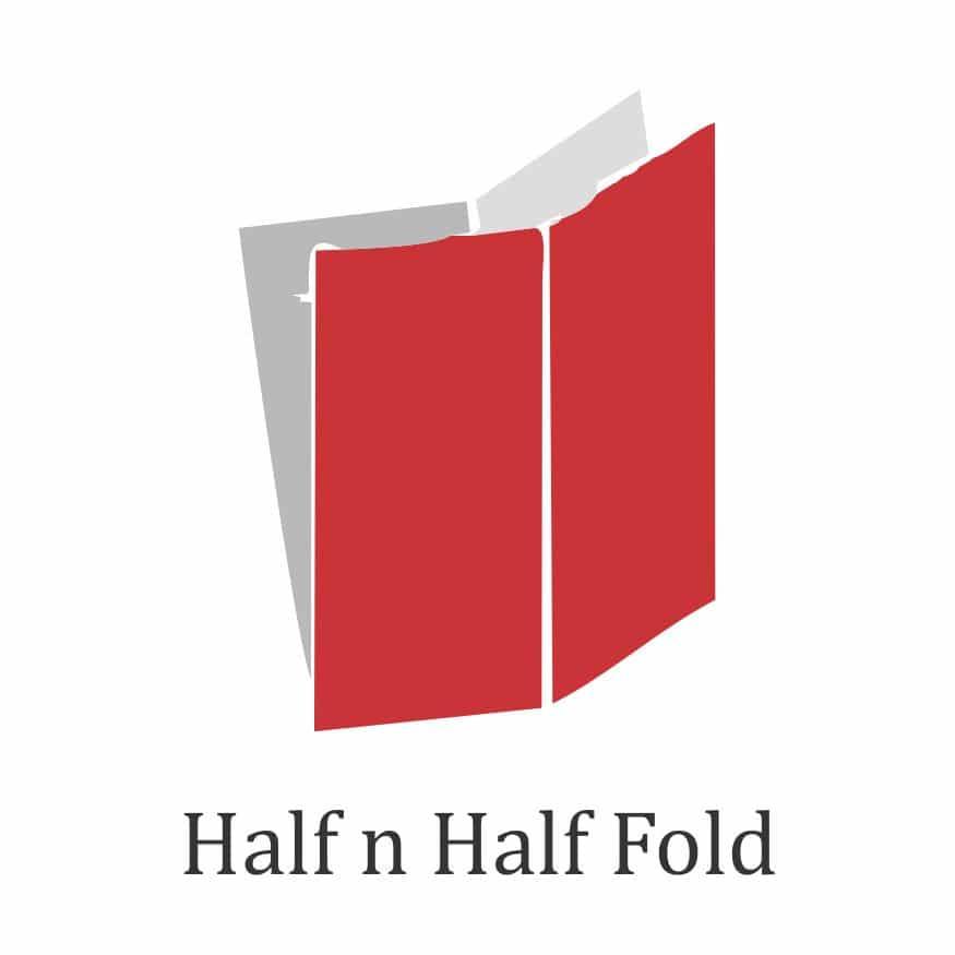 brochure fold type-half and half fold