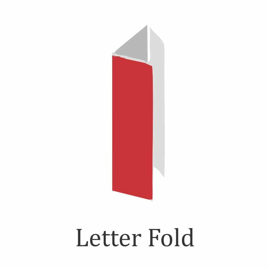 brochure fold design - letter fold