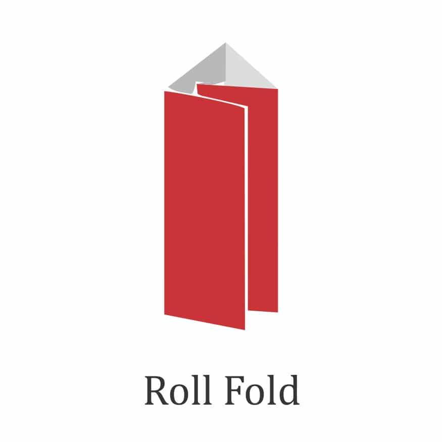 brochure fold design - roll fold