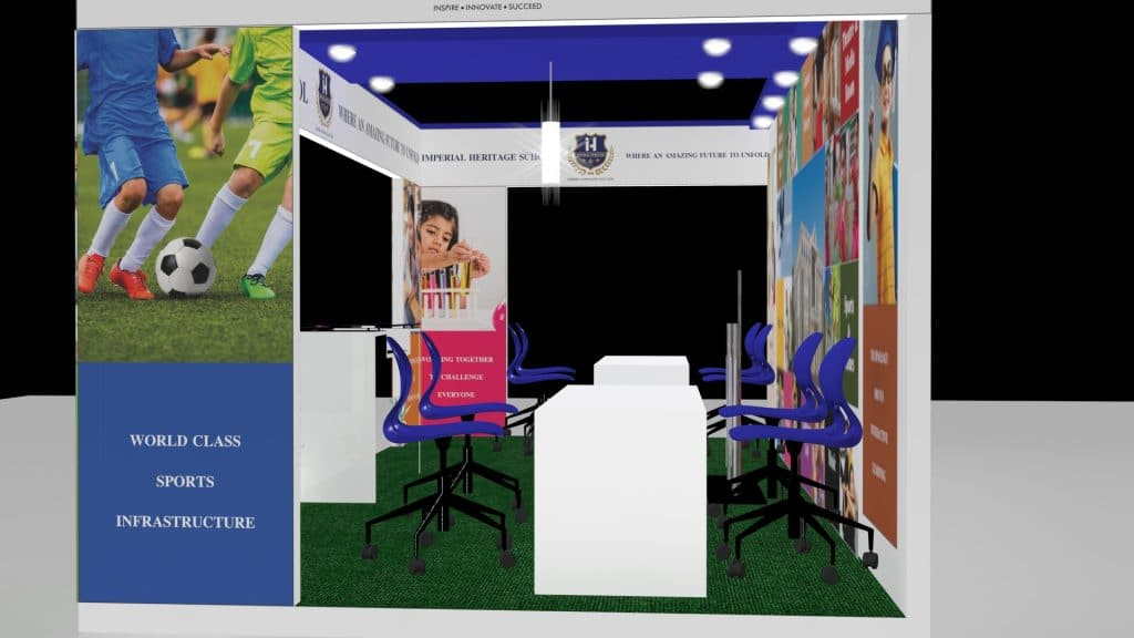 3d exhibition stall side - 3d stall designing services in delhi