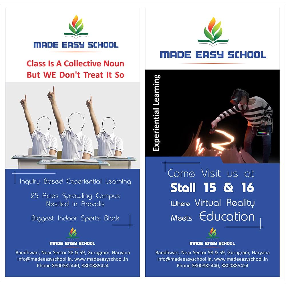 standee design school- creative agency in delhi