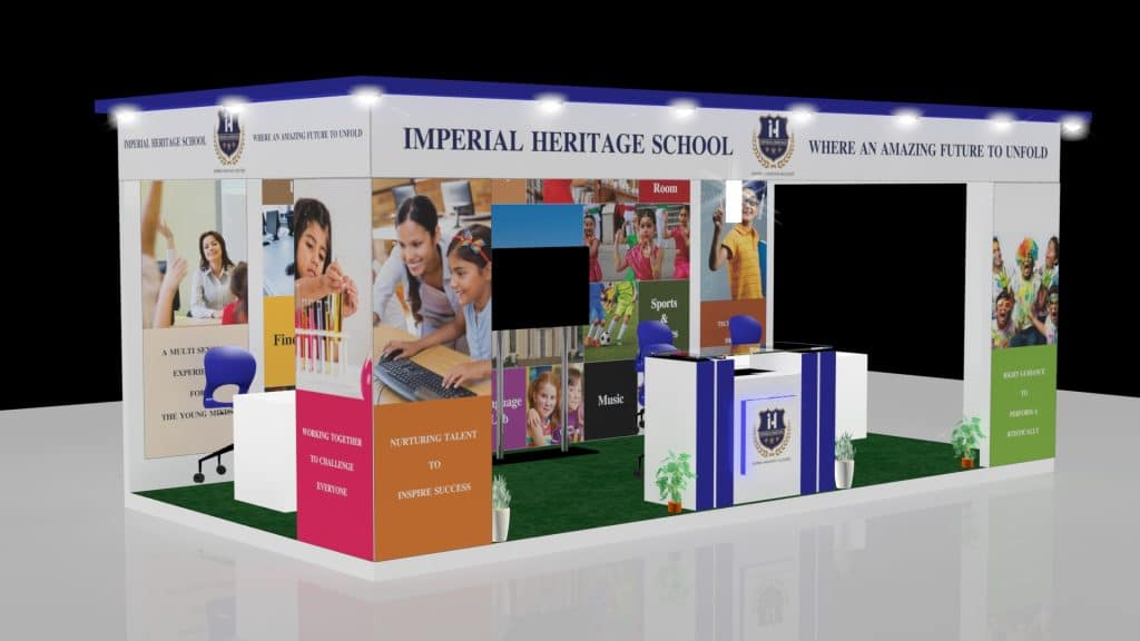 3d exhibition stall right - 3d stall designing services in delhi
