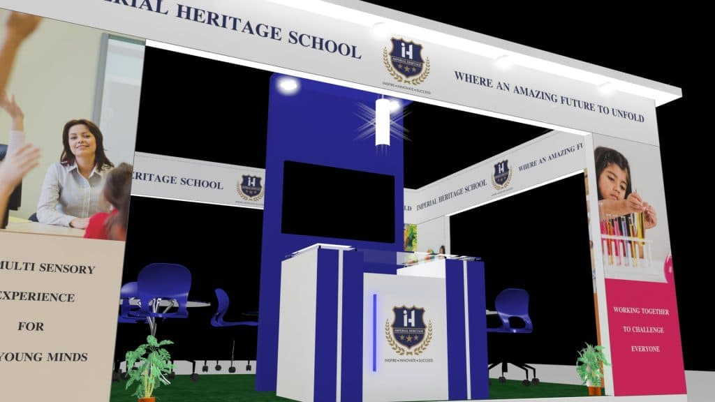 3d exhibition stall upper - 3d stall designing services in delhi