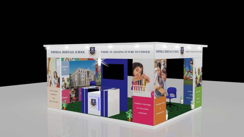3d exhibition stall left - 3d stall designing services in delhi