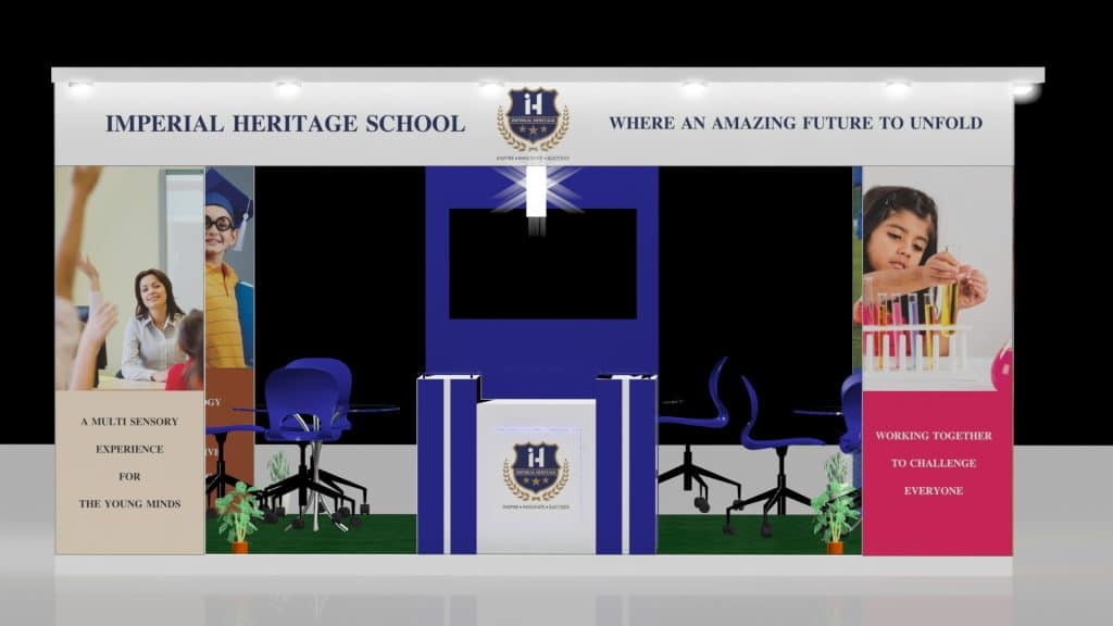 3d exhibition stall front - 3d stall designing services in delhi